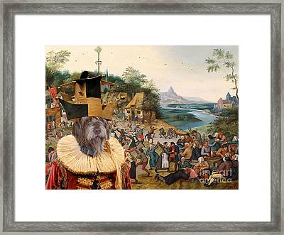 Korthals Pointing Griffon Art Canvas Print Framed Print