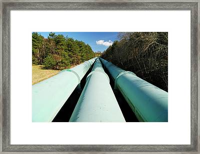 Krummel Nuclear Power Plant Framed Print by Bildagentur-online/ohde/science Photo Library