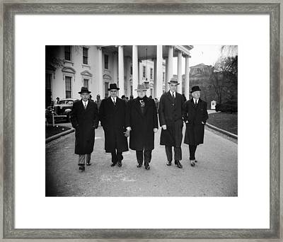 Labor Leaders, 1938 Framed Print by Granger