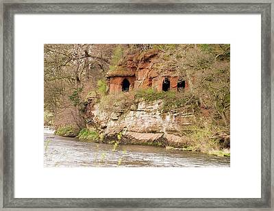 Lacy's Caves On The River Eden Framed Print by Ashley Cooper
