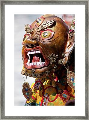 Ladakh, India The Ceremonial Masked Framed Print by Jaina Mishra