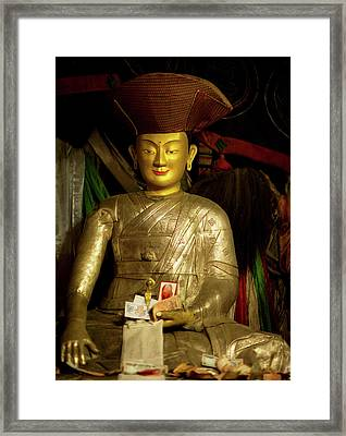 Ladakh, India The Interior Of The Hemis Framed Print by Jaina Mishra