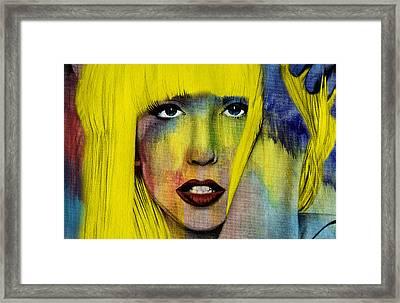 Lady Gaga  Framed Print by Mark Ashkenazi