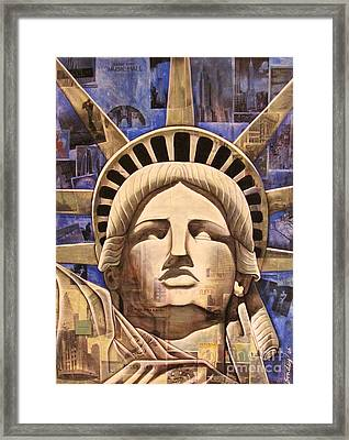 Lady Liberty Framed Print by Joseph Sonday