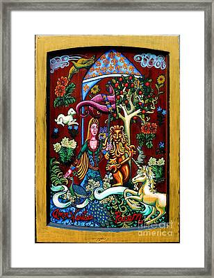 Lady Lion And Unicorn Framed Print