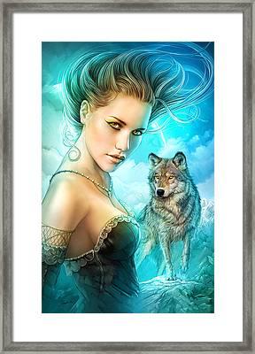 Lady Wolf Framed Print by Shannon Maer