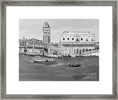 Framed Print featuring the painting Laguna by Loredana Messina