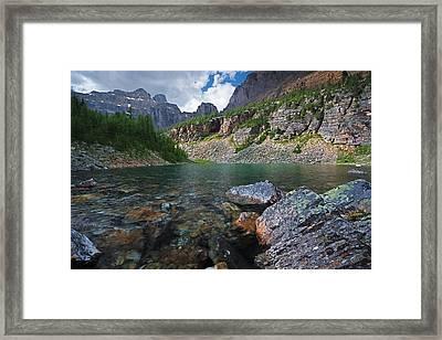 Lake Agnes Framed Print by Bernard Chen
