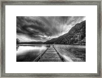 Lake Crescent In Olympic National Park Framed Print