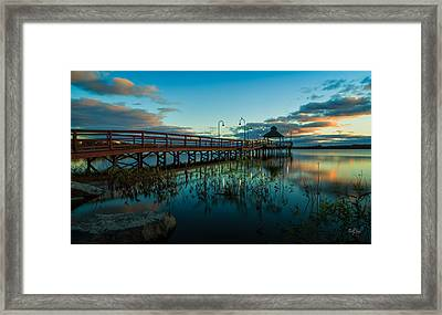 Lake Neatahwanta Framed Print by Everet Regal