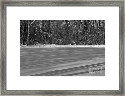 Lake Under Snow Framed Print by Dariusz Gudowicz