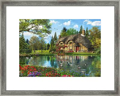 Lake View Cottage Framed Print by Dominic Davison