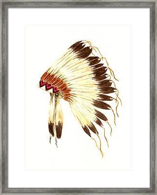 Lakota Headdress Framed Print