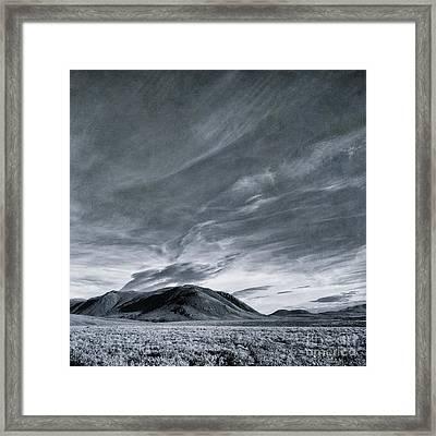 Land Shapes 19 Framed Print by Priska Wettstein