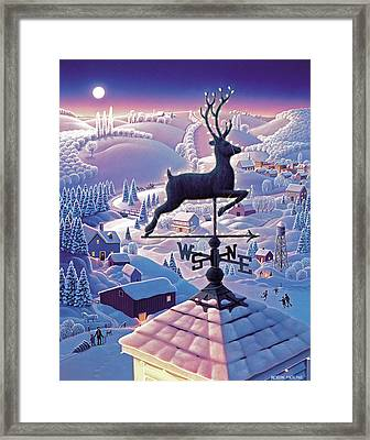 Lands End Weathervane Framed Print by Robin Moline