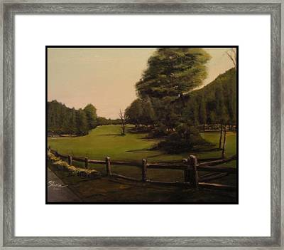 Landscape Of Duxbury Golf Course - Image Of Original Oil Painting Framed Print