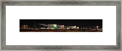 Las Vegas Fireworks Framed Print by Kevin Grant