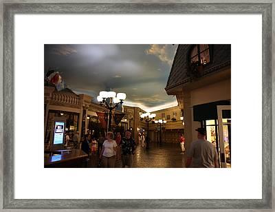 Las Vegas - Paris Casino - 12121 Framed Print by DC Photographer