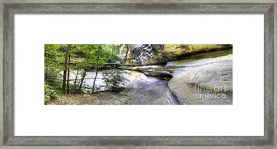 Lasalle Canyon At Starved Rock Framed Print by Twenty Two North Photography