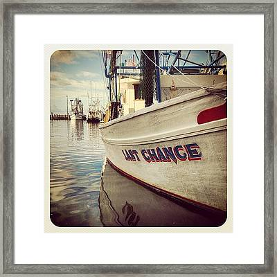 Last Chance Framed Print