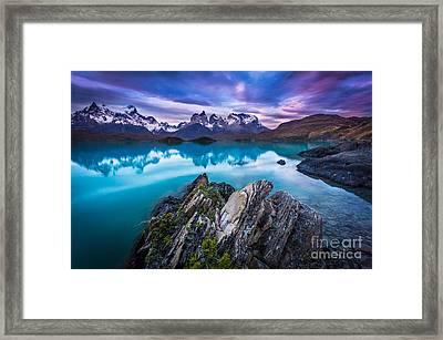 Last Light Framed Print by Inge Johnsson
