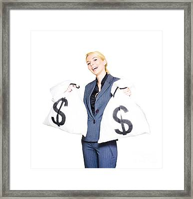 Laughing All The Way To The Bank Framed Print