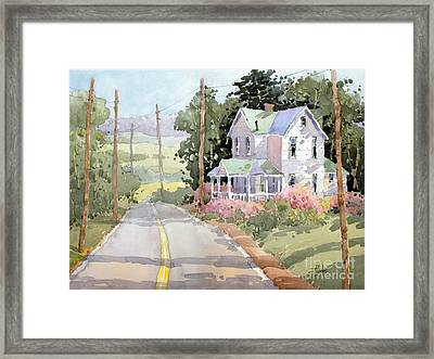 Laurel Mountain Highlands Farm Framed Print