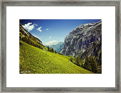 Framed Print featuring the photograph Lauterbrunnen Valley In Bloom by Jeff Goulden