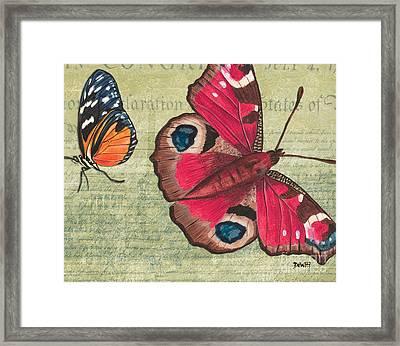 Le Papillon 1 Framed Print by Debbie DeWitt