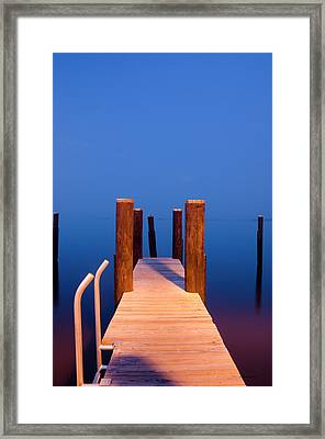 Leading Into The Big Blue Framed Print by Crystal Wightman