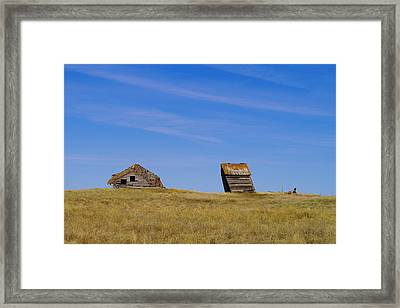 Leaning Into The Years Framed Print by Jeff Swan