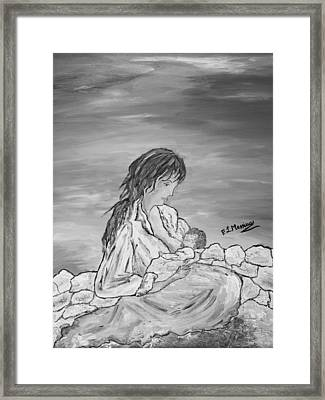 Framed Print featuring the painting Legame Continuo by Loredana Messina