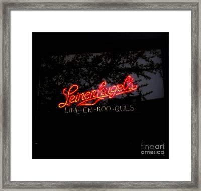 Leinenkugel's Framed Print by Kelly Awad