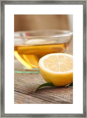 Lemon Fruit Tea Framed Print