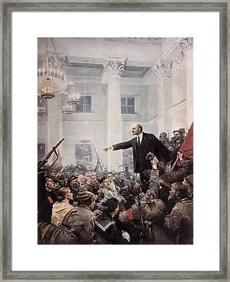 Lenin, Vladimir Ilich Ulyanov Framed Print