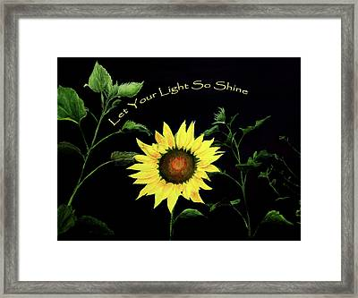 Let Your Light So Shine Framed Print by Jane Autry