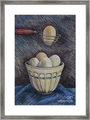 Lets Cook Framed Print by Linda Simon