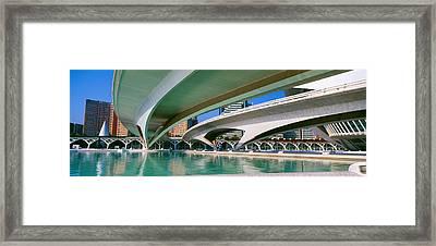 Lhemisferic Planetarium And El Palau De Framed Print