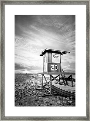Lifeguard Tower 20 Newport Beach Ca Picture Framed Print by Paul Velgos