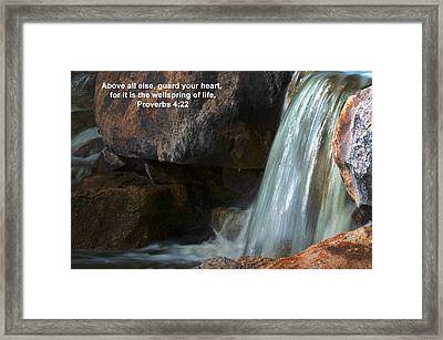 Life's Reflections Framed Print by Deb Halloran