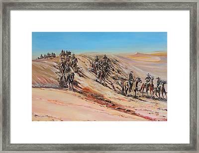 Light Horse On Patrol Framed Print by Leonie Bell