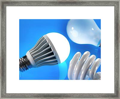 Lightbulbs Framed Print by Tek Image