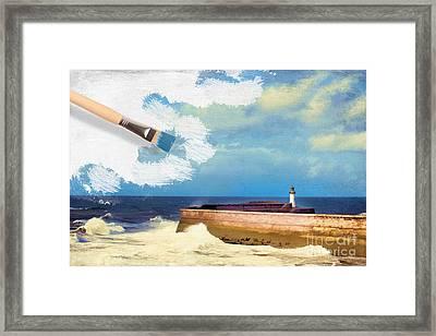 Lighthouse At Whitehaven Framed Print