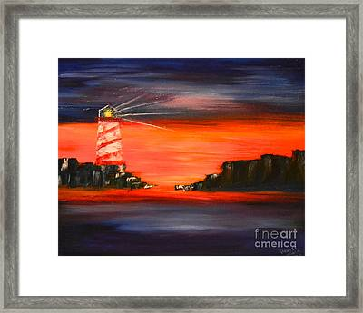 Lighthouse Bay Framed Print