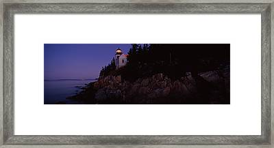 Lighthouse On The Coast, Bass Head Framed Print by Panoramic Images