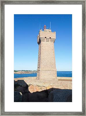 Lighthouse On The Coast, Leuchtturm Von Framed Print by Panoramic Images