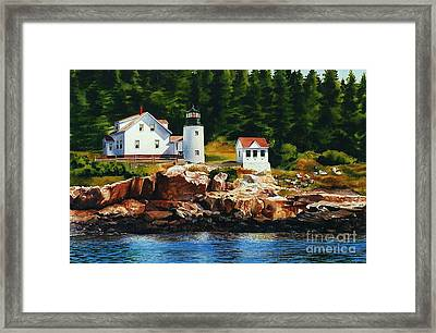 Lighthouse Solitude Framed Print by Karol Wyckoff