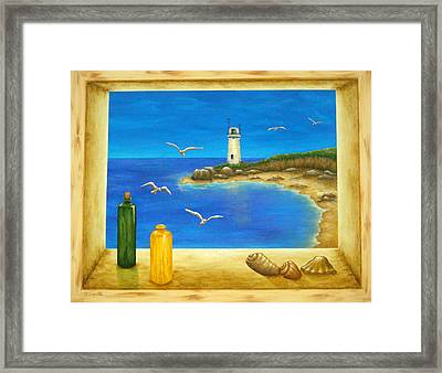Lighthouse View Framed Print by Pamela Allegretto