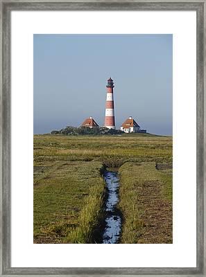 Lighthouse Westerhever Framed Print by Olaf Schulz