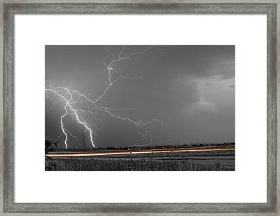 Lightning Thunderstorm Dragon Framed Print by James BO  Insogna